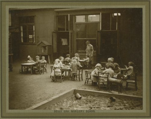 Tiverton Rd. the first kindergarten in Birmingham thanks to the efforts of the Cadbury family.